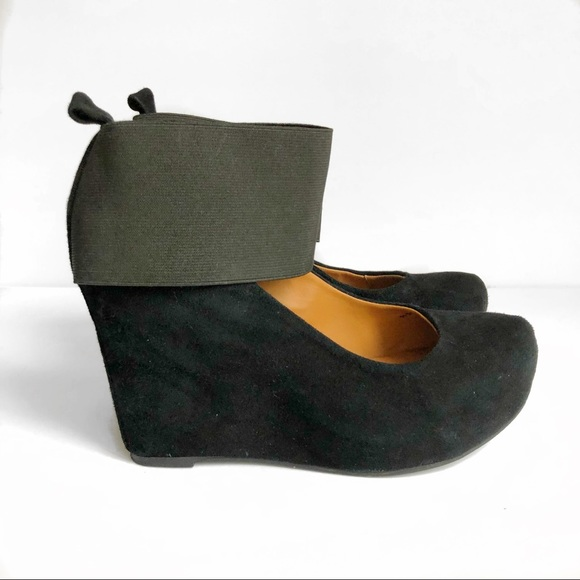 Jeffrey Campbell Shoes - Jeffrey Campbell Last Tahiti Black Suede Wedges